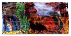 Southwest Hand Towel by Judi Saunders