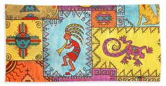 Bath Towel featuring the painting Southwest Sampler by Susie WEBER