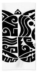 Hand Towel featuring the digital art Southwest Tribal Tortuga by Vagabond Folk Art - Virginia Vivier