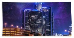 Hand Towel featuring the photograph Space Detroit by Nicholas  Grunas
