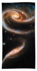 Bath Towel featuring the digital art Space Image Galaxy Rose by Matthias Hauser