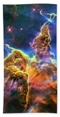 Space Image Mystic Mountain Carina Nebula Hand Towel by Matthias Hauser