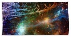 Bath Towel featuring the digital art Space Time Continuum by Linda Sannuti