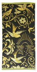 Hand Towel featuring the photograph Spanish Artistic Birds by Linda Phelps