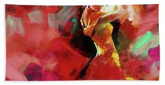 Bath Towel featuring the painting Spanish Dance by Gull G