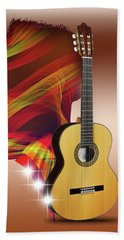 Spanish Guitar Bath Towel