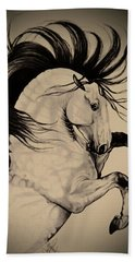 Spanish Horses Hand Towel