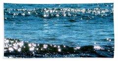 Sparkle Waves  Hand Towel