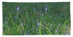 Sparkling Dew Drops Hand Towel