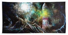 Sparks - The Storm At The Start Hand Towel by Sandro Ramani