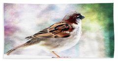 Sparrow Beauty 0004. Hand Towel by Kevin Chippindall