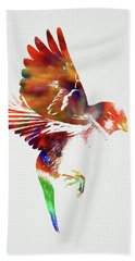 Sparrow Wild Animals Of The World Watercolor Series On White Canvas 004 Hand Towel