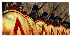 Spartan Army - Wall Of Spears Hand Towel