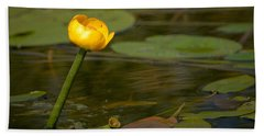 Hand Towel featuring the photograph Spatterdock by Jouko Lehto