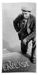 Speakeasy Directions - Prohibition 1925 Hand Towel