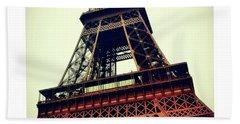Classic Eiffel Tower Bath Towel