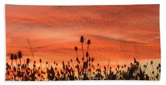 Sky On Fire Bath Towel