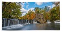 Speedwell Dam Fall Foliage Bath Towel