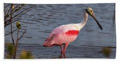 Spoonbill Fishing Bath Towel