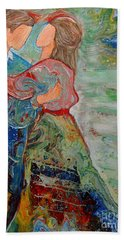 Bath Towel featuring the painting Spending Time With You by Deborah Nell