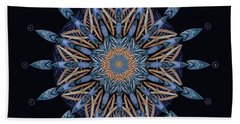 Hand Towel featuring the digital art Sphinx Moth Pattern Mandala by Deborah Smith