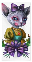 Sphynx Girl Bath Towel