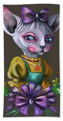 Sphynx Girl Hand Towel