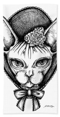 Sphynx Lady Hand Towel
