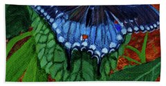 Spicebush Swallowtail Bath Towel by Susan Duda