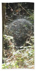 Bath Towel featuring the photograph Spider Dome by Marie Neder