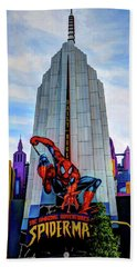 Hand Towel featuring the photograph Spiderman by Tom Prendergast
