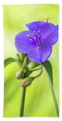 Spiderwort Wildflower Hand Towel