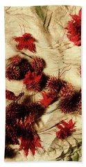 Spiked Nuts Red Bath Towel