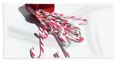 Spilled Candy Canes Bath Towel