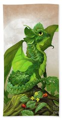Hand Towel featuring the digital art Spinach Dragon by Stanley Morrison