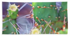 Bath Towel featuring the photograph Spines Prickly Pear Cactus by D Renee Wilson