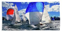 Spinnakers And Sails By Kaye Menner Bath Towel