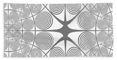 Spiral Abstract 7 Colour Choice Hand Towel