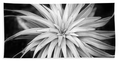 Bath Towel featuring the photograph Spiral Black And White by Christina Rollo