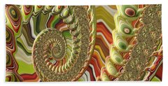 Spiral Fractal Bath Towel by Bonnie Bruno