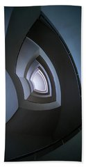Spiral Modern Staircase In Blue Tones Hand Towel