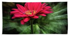 Spiral Pink Flower Focus Hand Towel