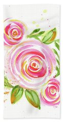 Spiral Pinks  Hand Towel