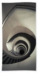 Spiral Staircase In Beige Tones Bath Towel by Jaroslaw Blaminsky