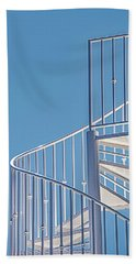 Spiral Staircase On Blue Sky Hand Towel