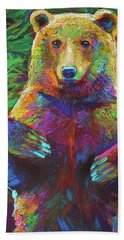 Bath Towel featuring the painting Spirit Bear by Robert Phelps