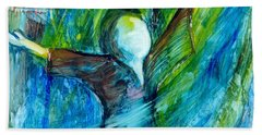 Bath Towel featuring the painting Spirit Move by Deborah Nell