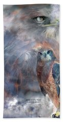 Spirit Of The Hawk Bath Towel