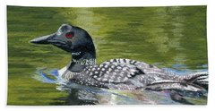 Hand Towel featuring the painting Spirit Of The North by Lynne Reichhart