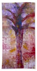 Hand Towel featuring the painting Spirit Tree by Claire Bull
